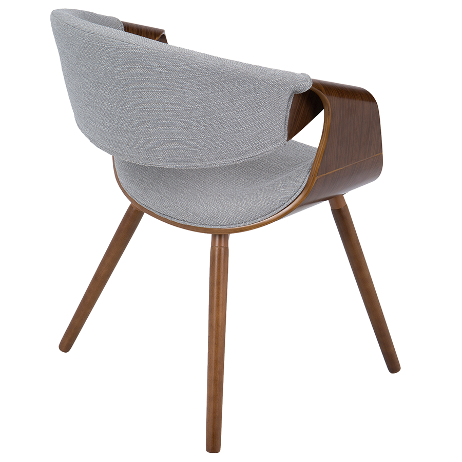 Clifton Gray + Walnut Contemporary Arm Chair