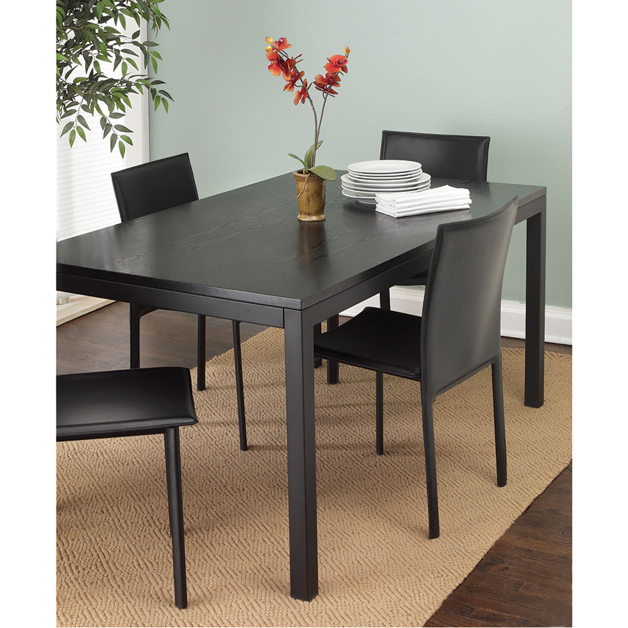 Modern dining tables clyde 72x38 dining table eurway for Dining room table 72