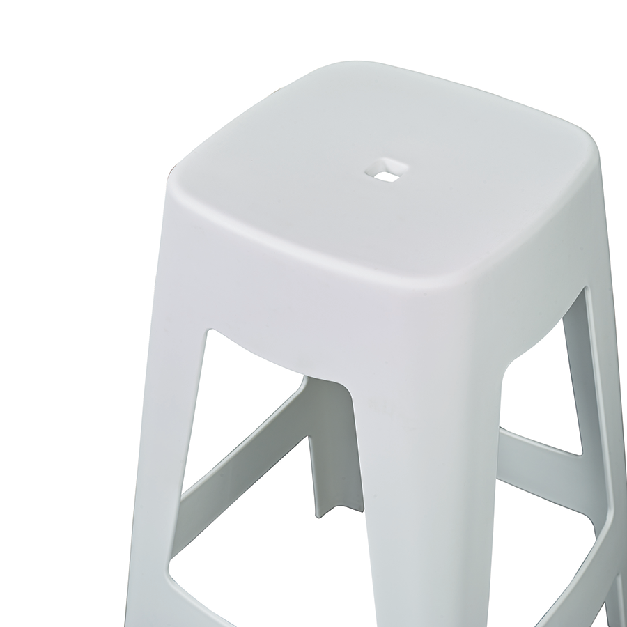 Coda White Modern Counter Stool Detail