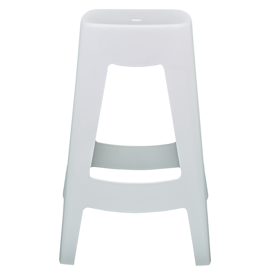Coda White Contemporary Counter Stool