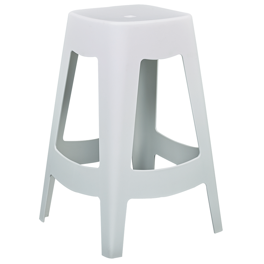 Coda White Modern Counter Stool