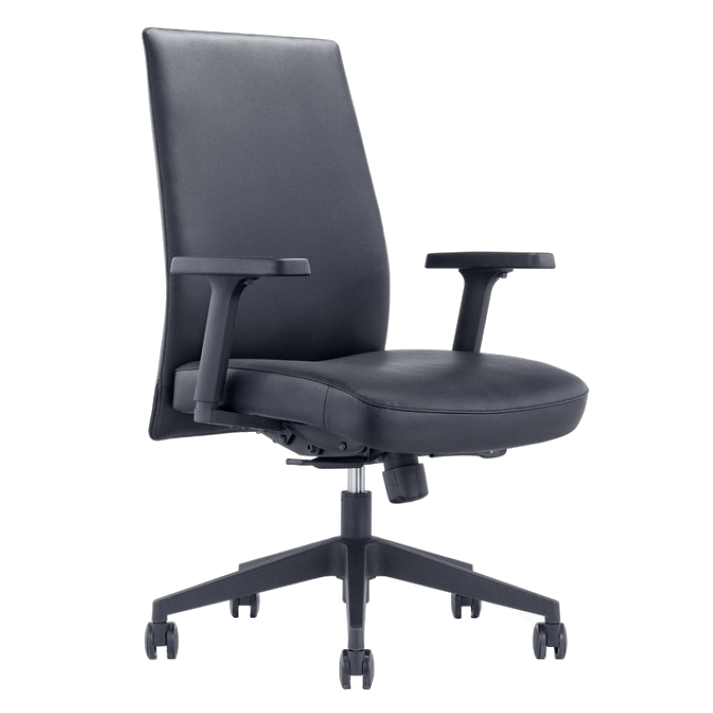 Columbia Black Modern Office Chair