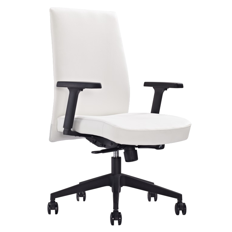 Columbia White Modern Office Chair