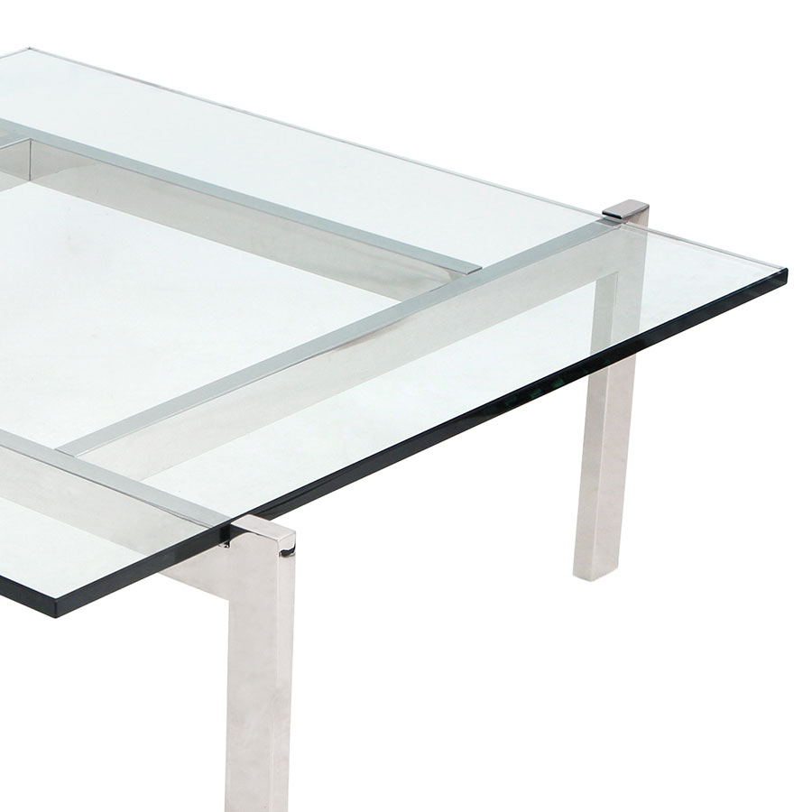 Concord Modern Chrome and Glass Coffee Table
