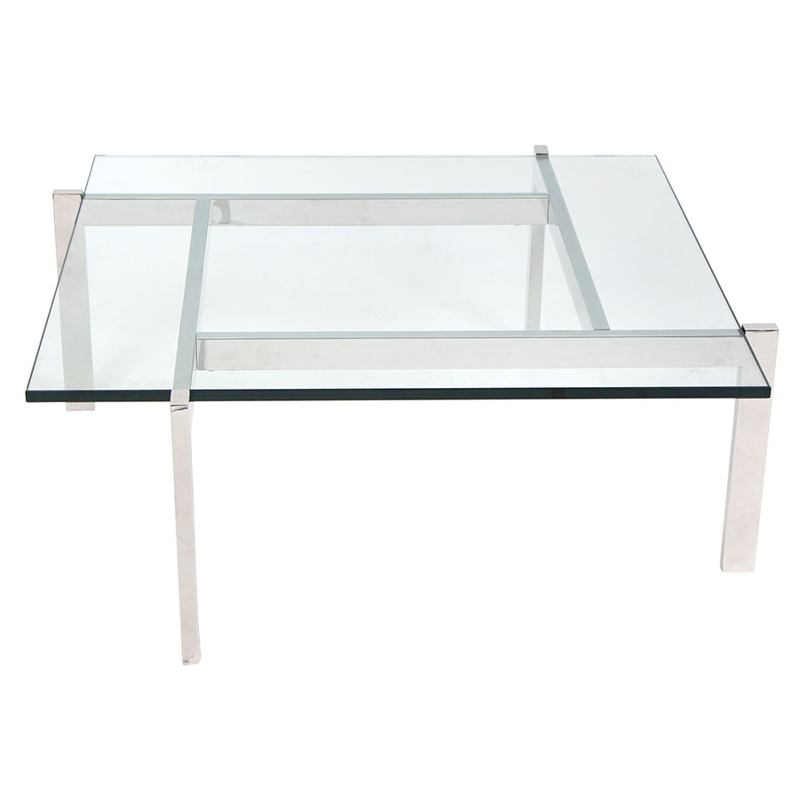 Concord Modern Chrome Cocktail Table