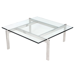 Concord Modern Chrome Coffee Table