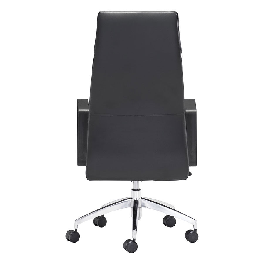 Conrad Black Leatherette Office Chair Back