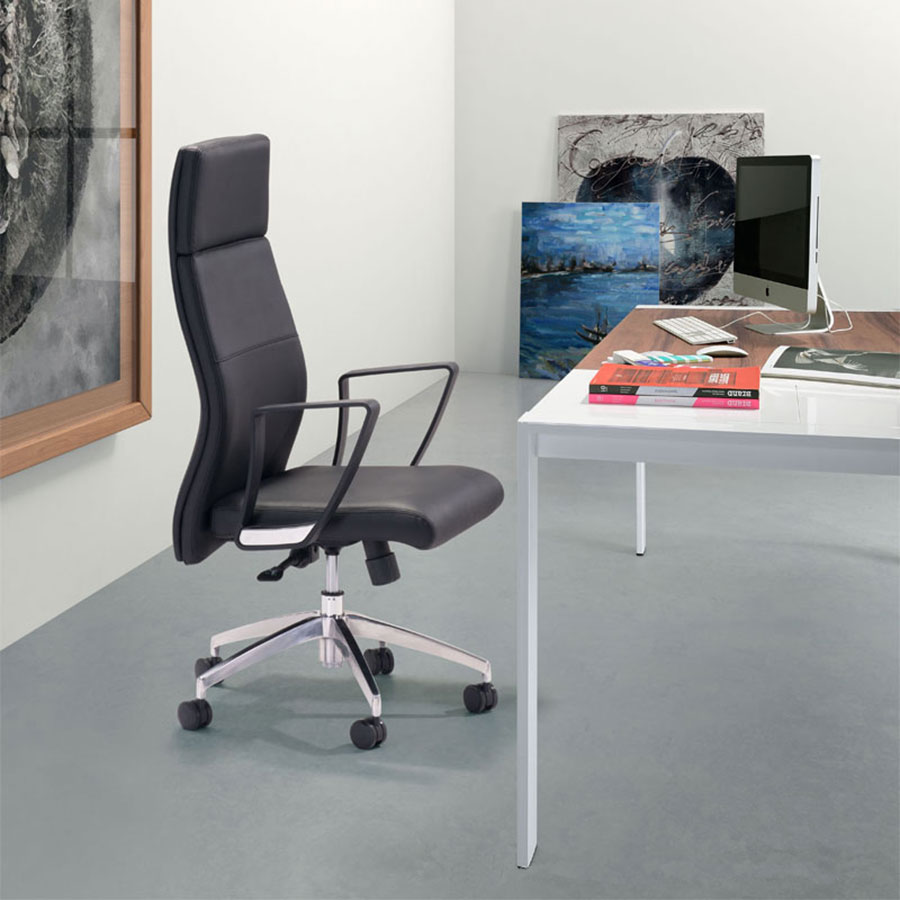 Conrad Modern Office Chair Black Lifestyle