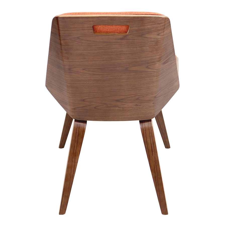 Constance Orange Fabric Modern Side Chair