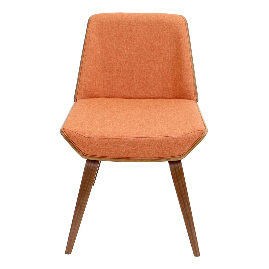 Constance Orange Contemporary Side Chair