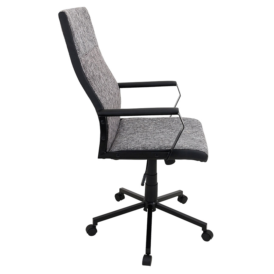 Constant Black Modern Office Chair - Side View