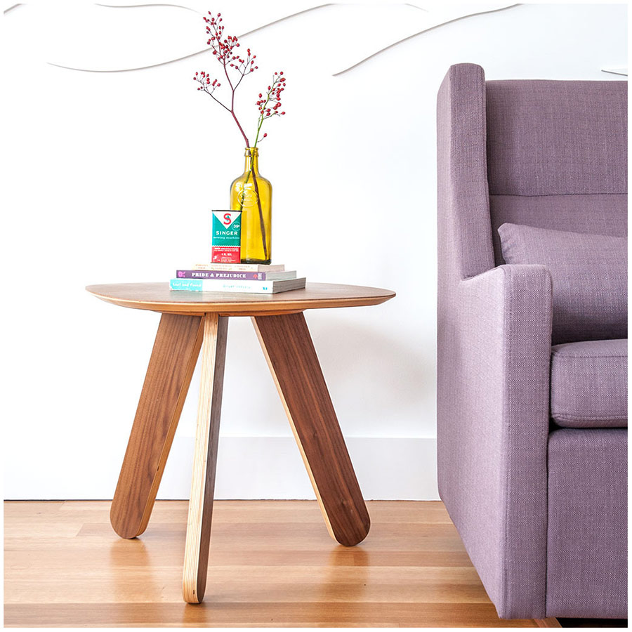 Gus Modern Natural Walnut Cooper Side Table