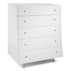Cordoba Modern White High Chest