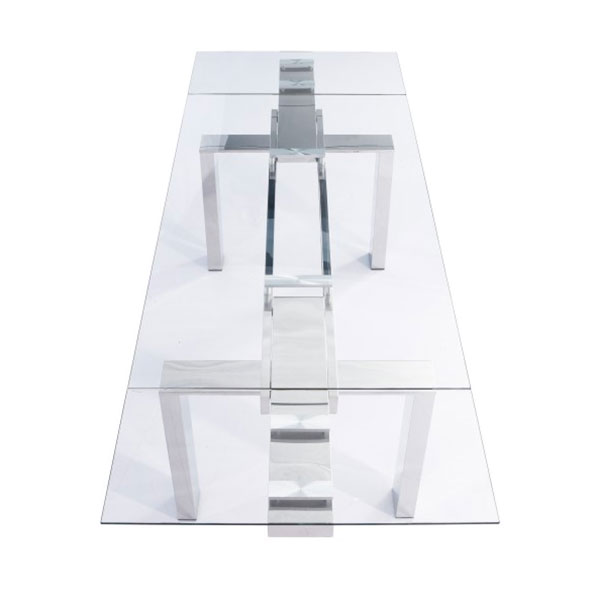 Corinne Modern Extension Table - Extended Top View