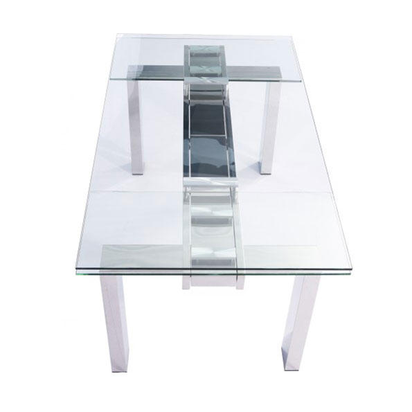 Corinne Modern Extension Table - Closed Top View