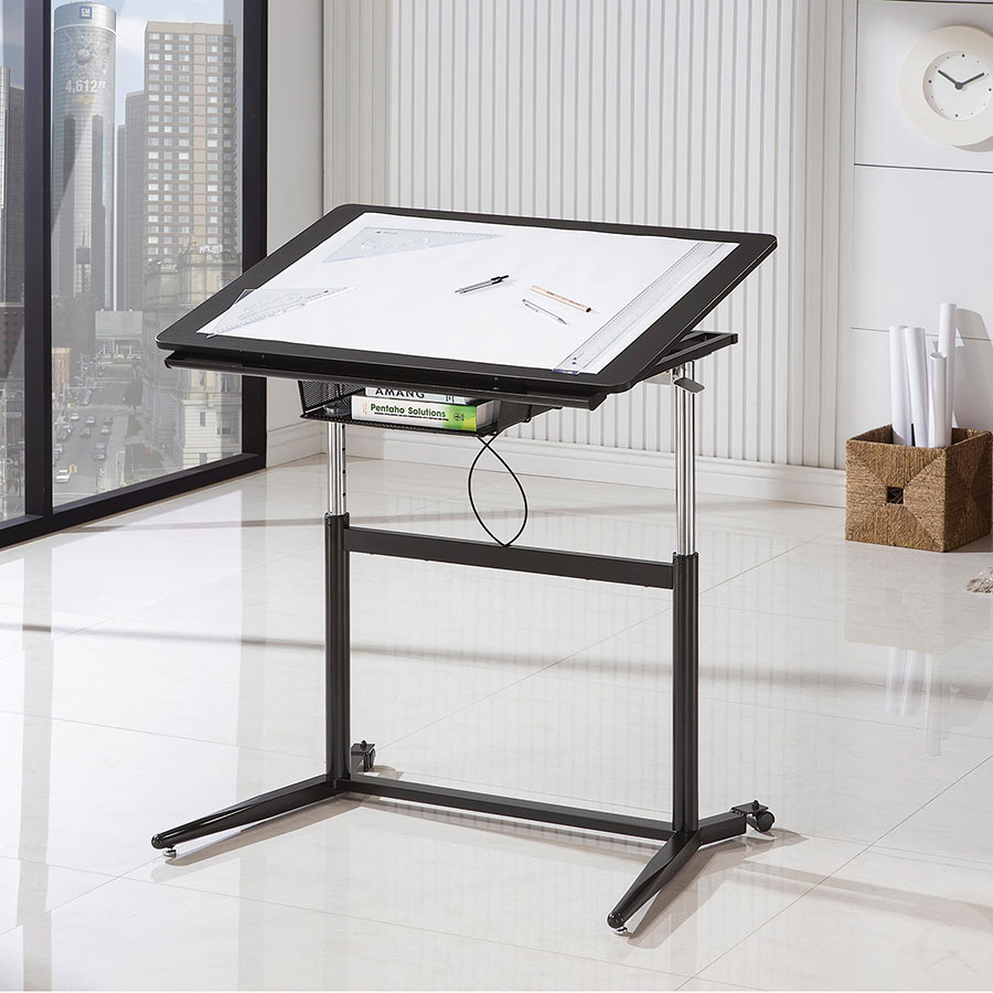 Cornerstone Modern Adjustable Drafting Desk - Up