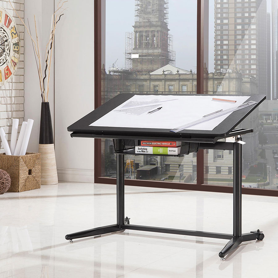 Cornerstone Modern Adjustable Drafting Desk - Down