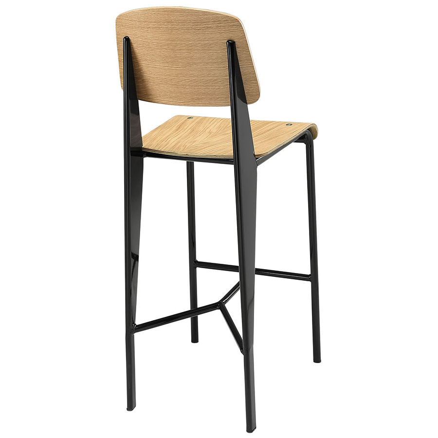 Cornwall Modern Natural Counter Stool - Back View