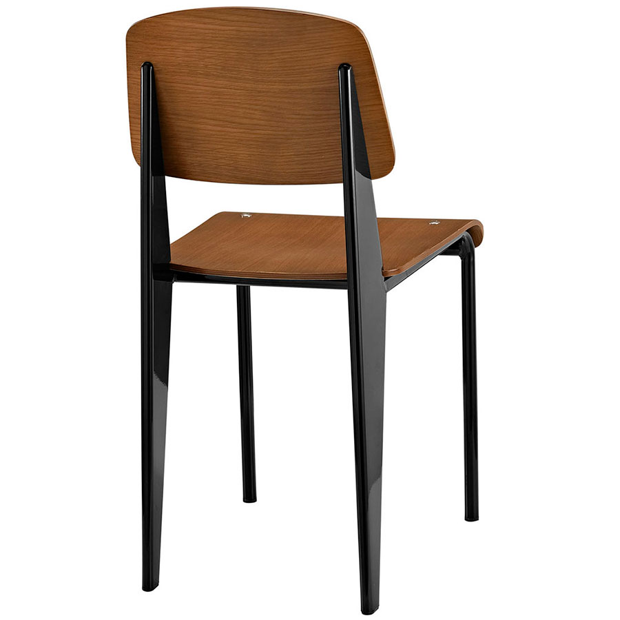 Cornwall Black + Walnut Contemporary Dining Side Chair