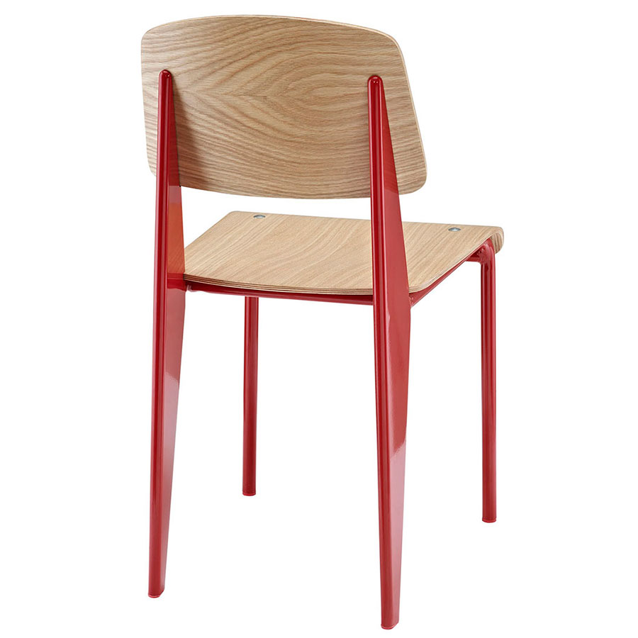 Cornwall Red + Natural Modern Dining Side Chair
