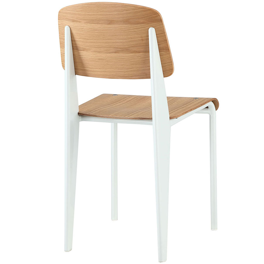 Cornwall White + Natural Contemporary Dining Side Chair