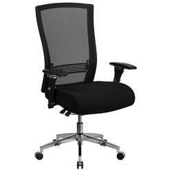 Corona 300 lb Capacity Black Mesh High Back Office Chair