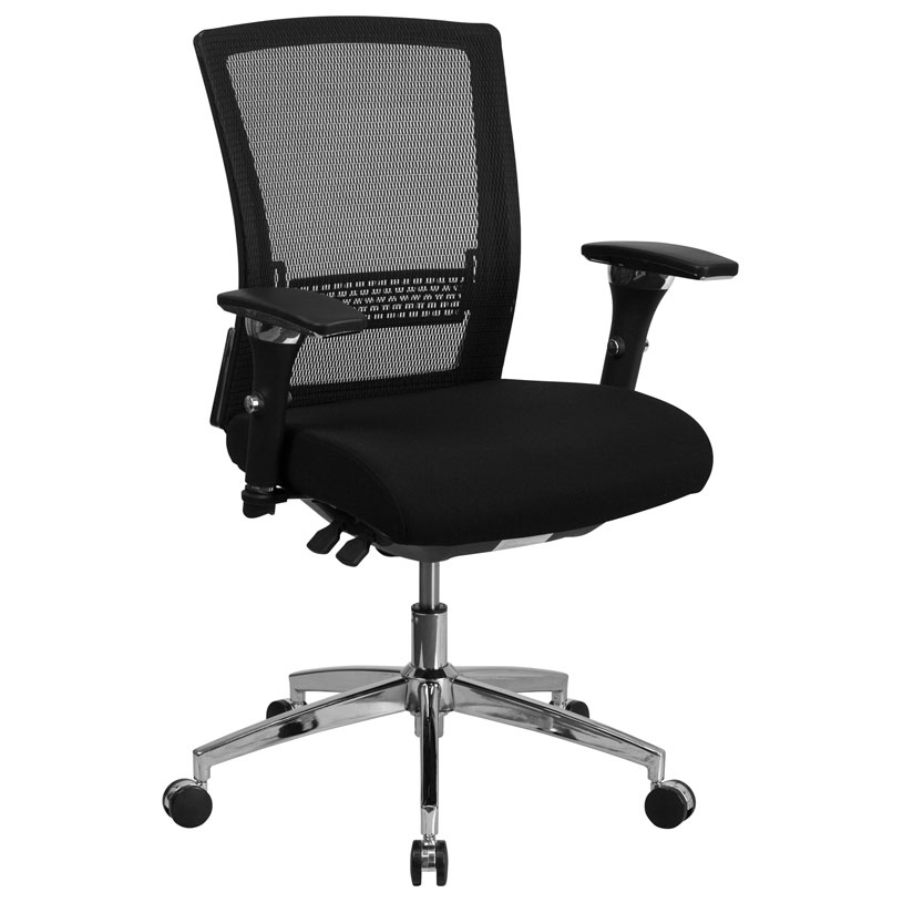 Corona 300 lb Capacity Black Mesh Low Back Office Chair