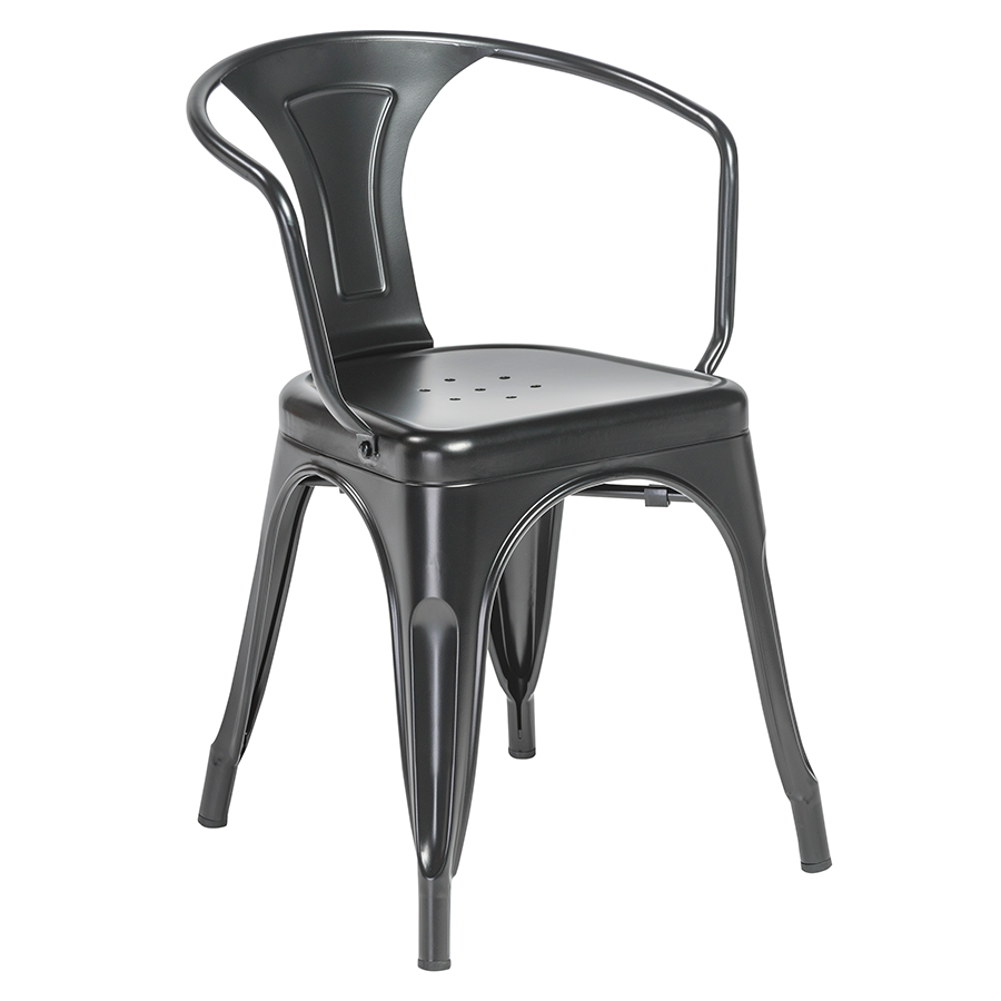 Corsair Matte Black Modern European Arm Chair