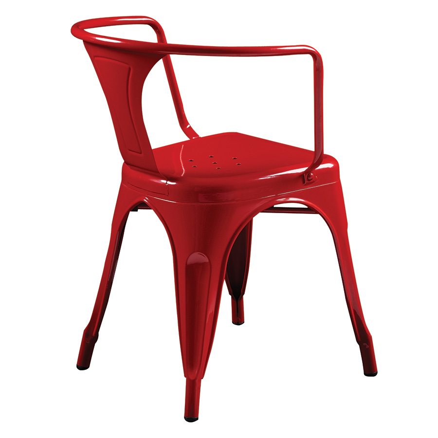 Corsair Red Metal Contemporary Arm Chair