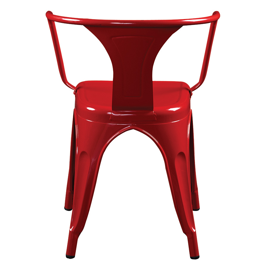 Corsair Red Modern Industrial Arm Chair