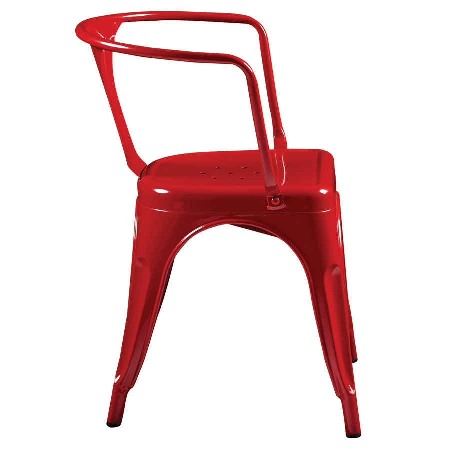 Corsair Red Metal Modern Arm Chair