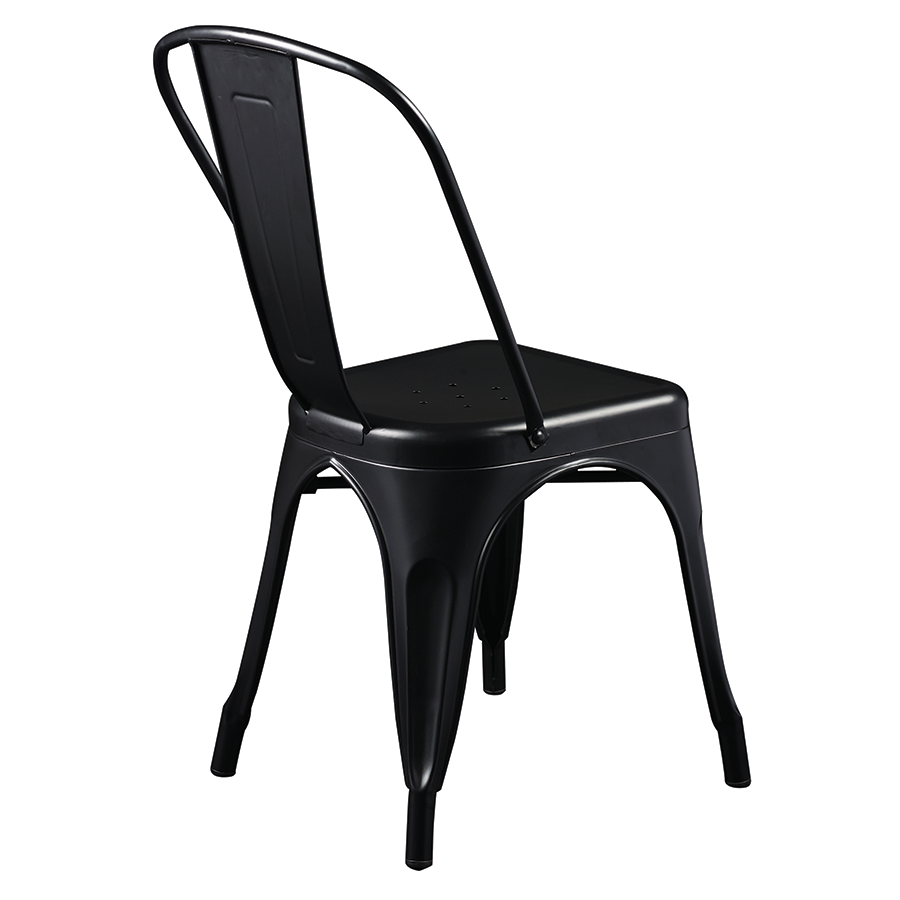 Corsair Matte Black Metal Contemporary Side Chair