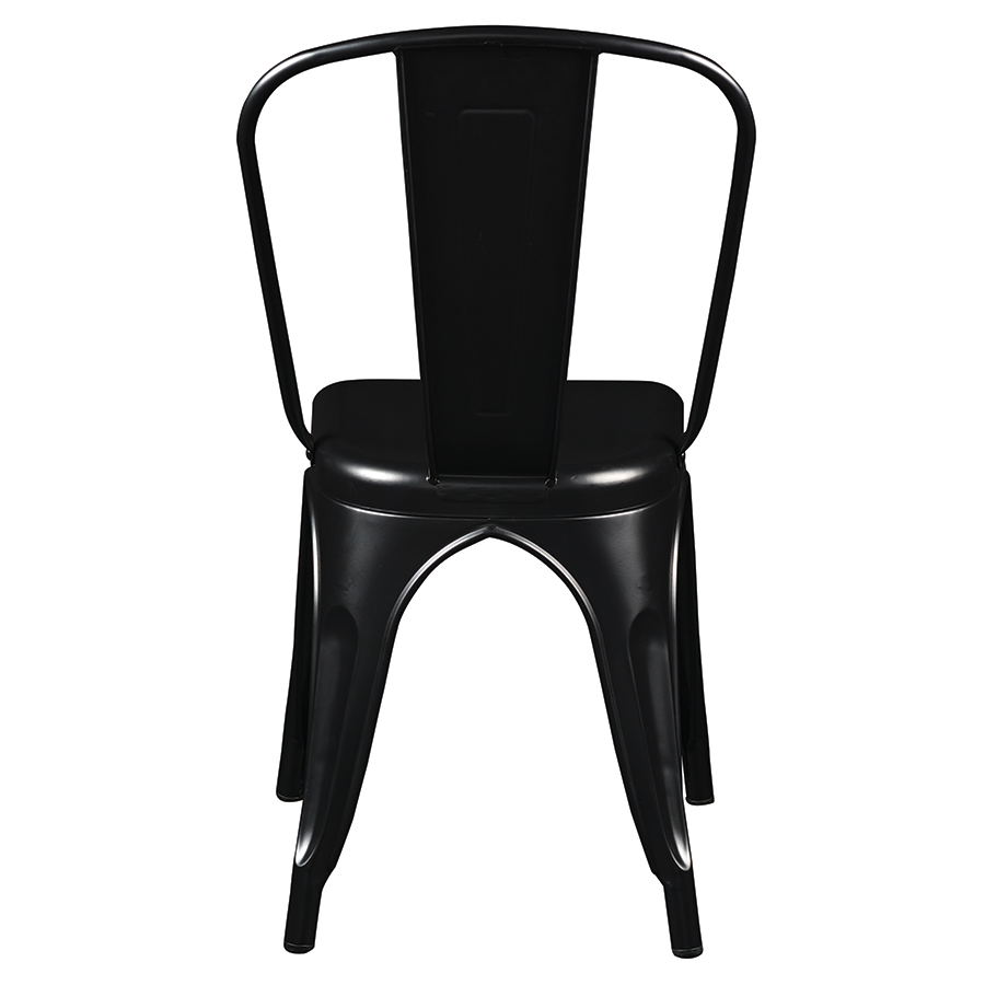 Corsair Matte Black Modern Industrial Side Chair
