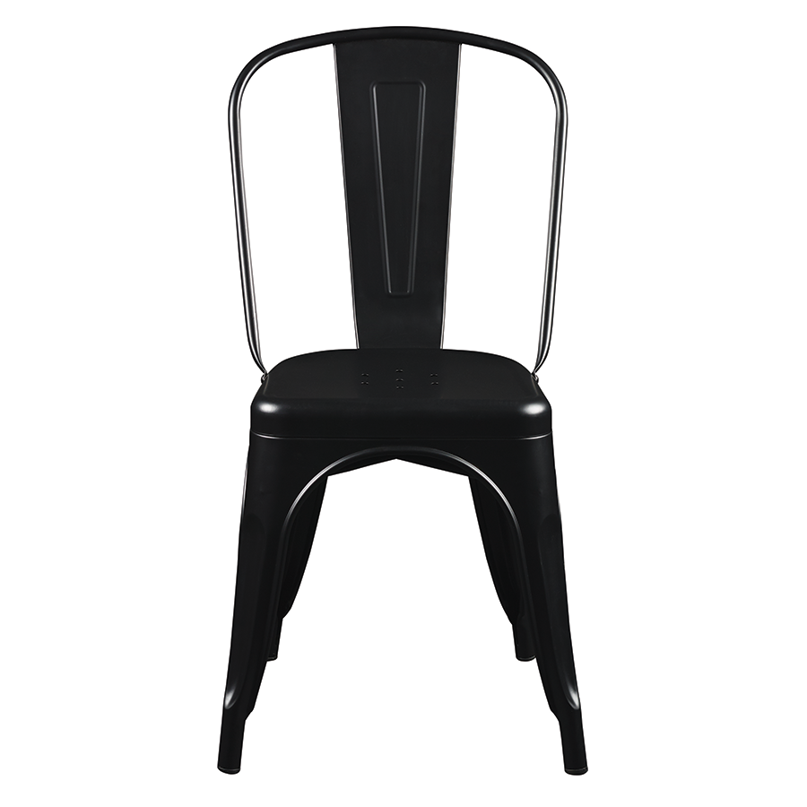 Corsair Matte Black Contemporary Side Chair
