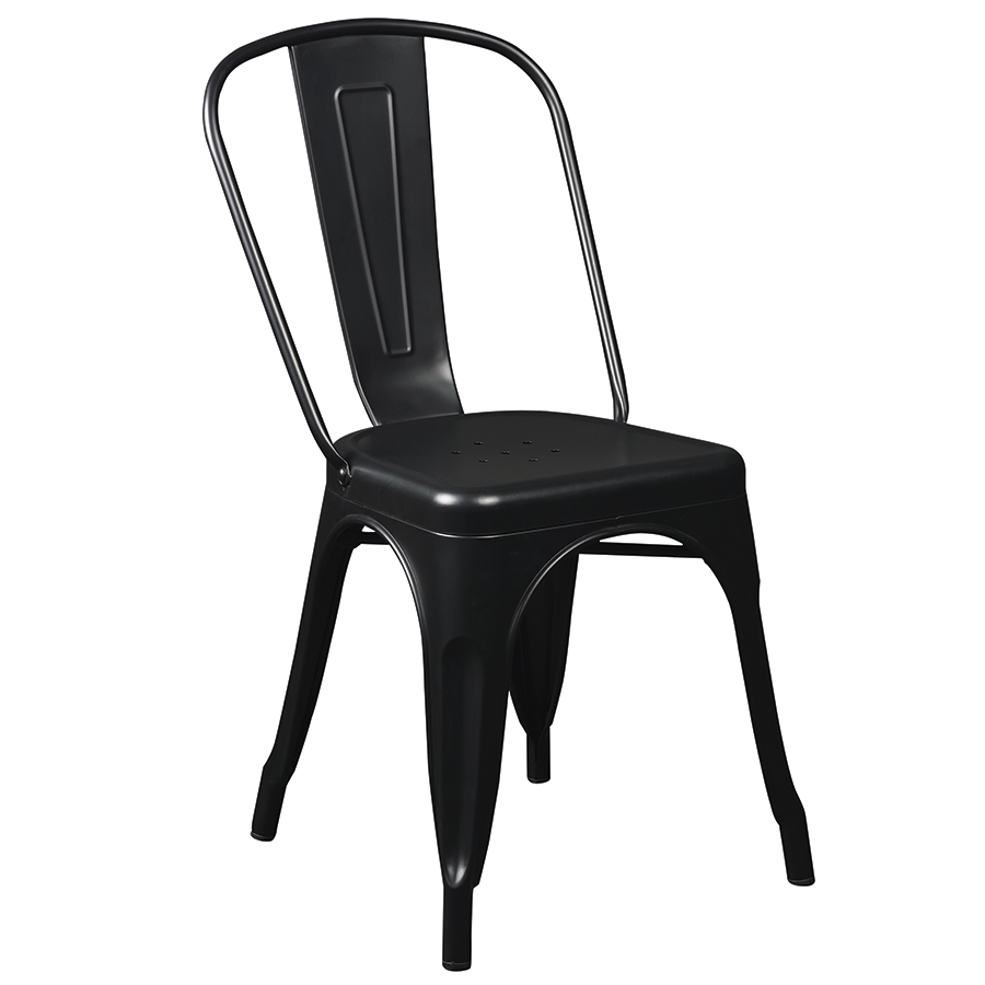 Corsair Matte Black Modern Side Chair