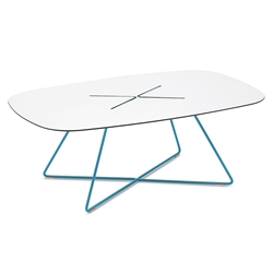 Craig Turquoise Modern Coffee Table
