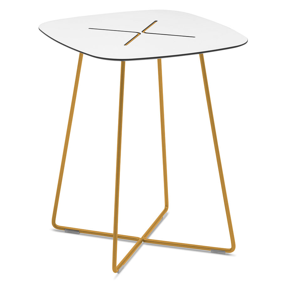 Craig Tall Mustard Modern End Table