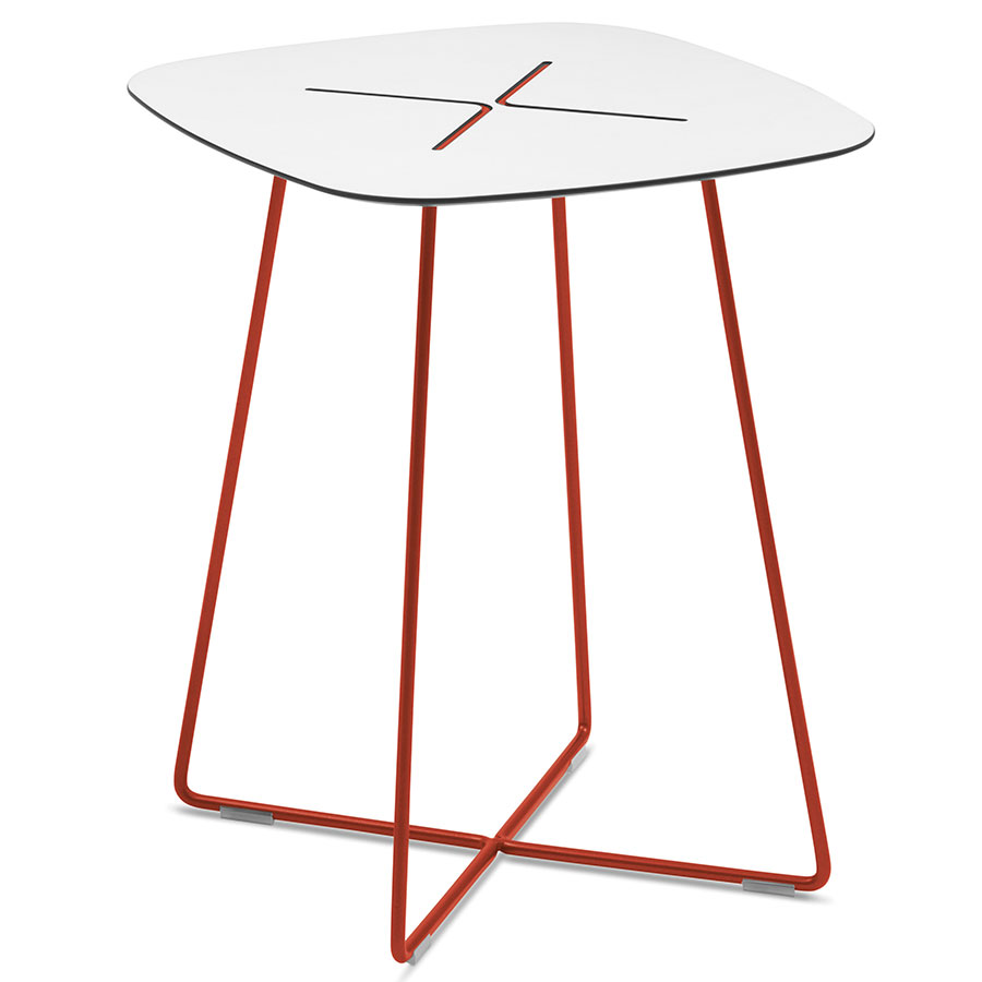 Craig Tall Red Modern End Table