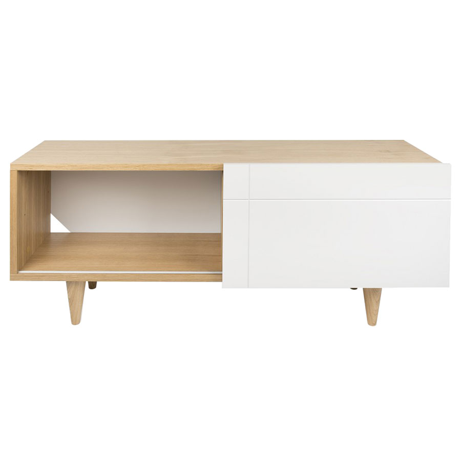 Cruz Contemporary White + Oak TV Stand by TemaHome