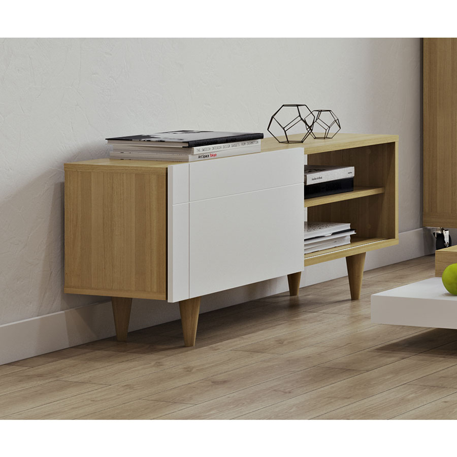 Cruz Modern TV + Media Stand by TemaHome