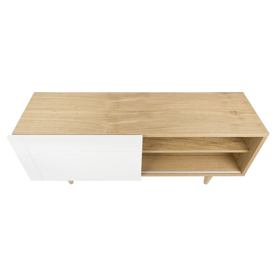 Cruz Contemporary White + Oak TV Stand + Sideboard by TemaHome