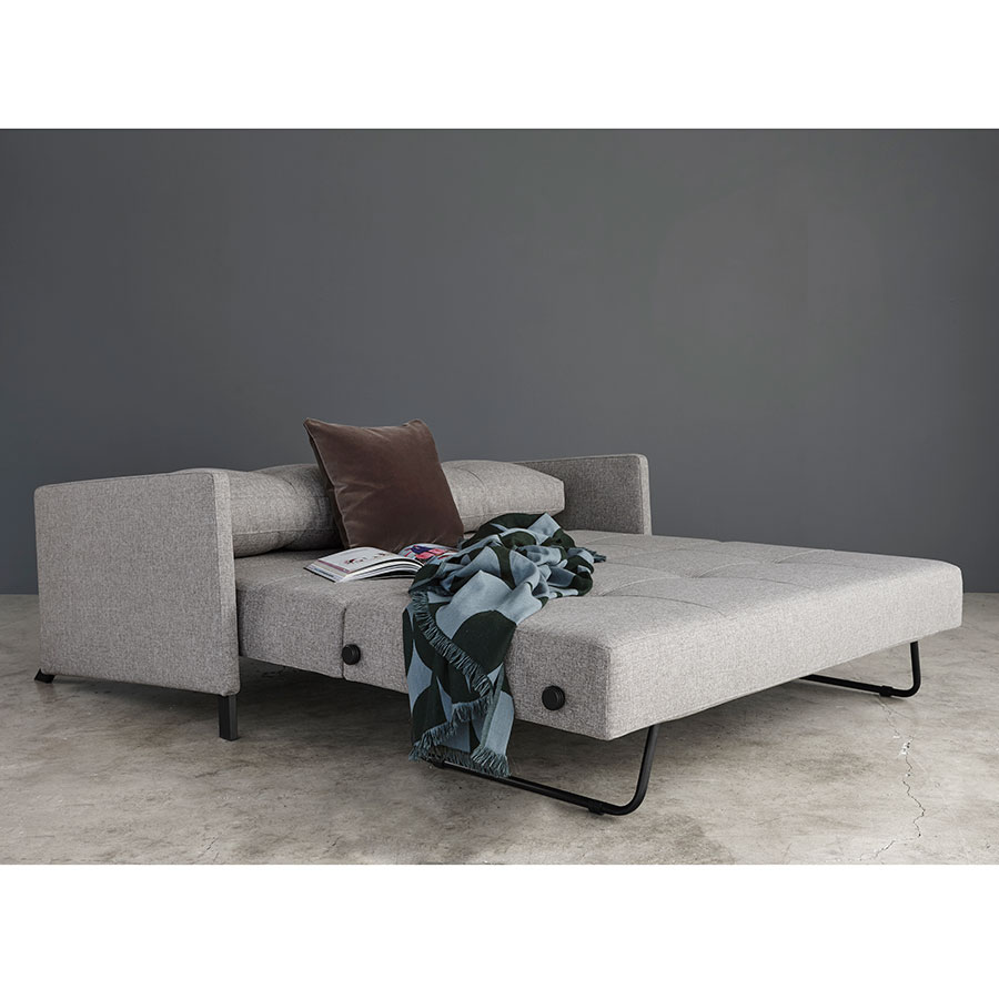 Innovation Cubed Queen Sleeper Sofa w/ Arms in Grey