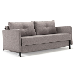 Cubed Modern Queen Sleeper Sofa w/ Arms in Grey