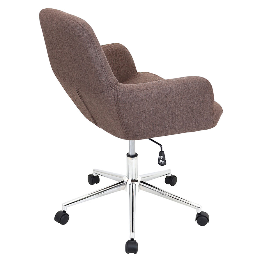 Daffodil Brown Fabric Contemporary Office Chair