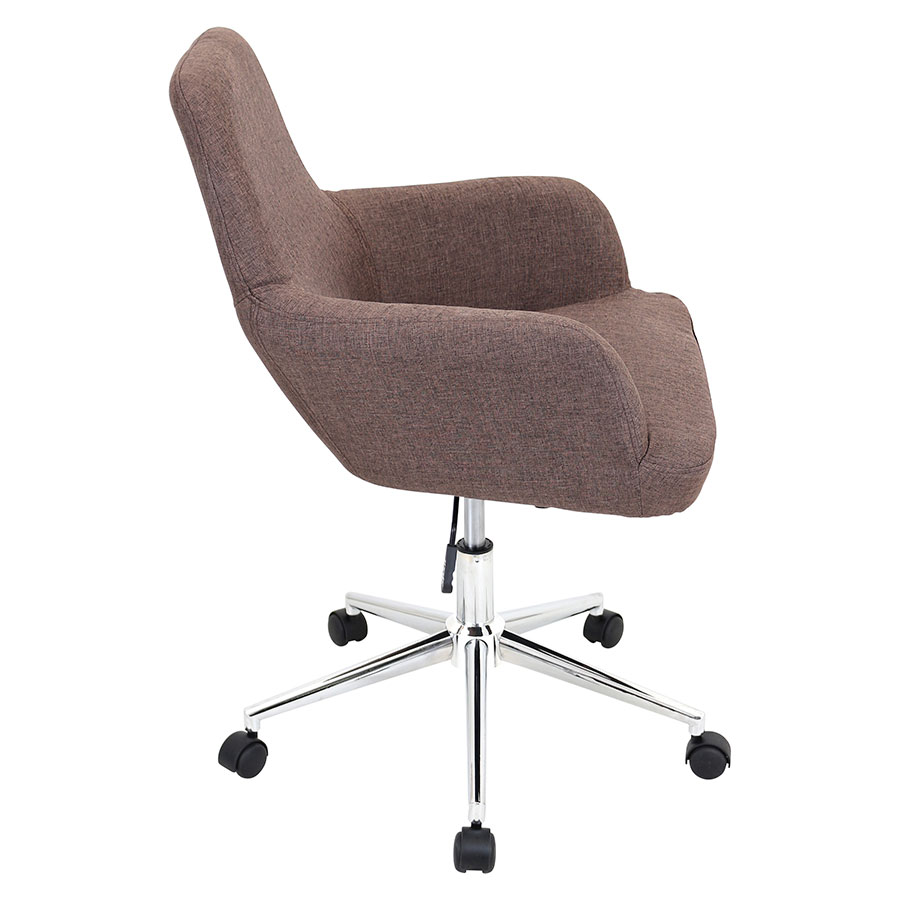 Daffodil Brown Fabric Modern Office Chair