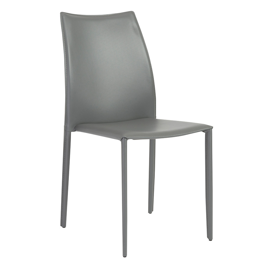 Dalia Gray Modern Stacking Chair
