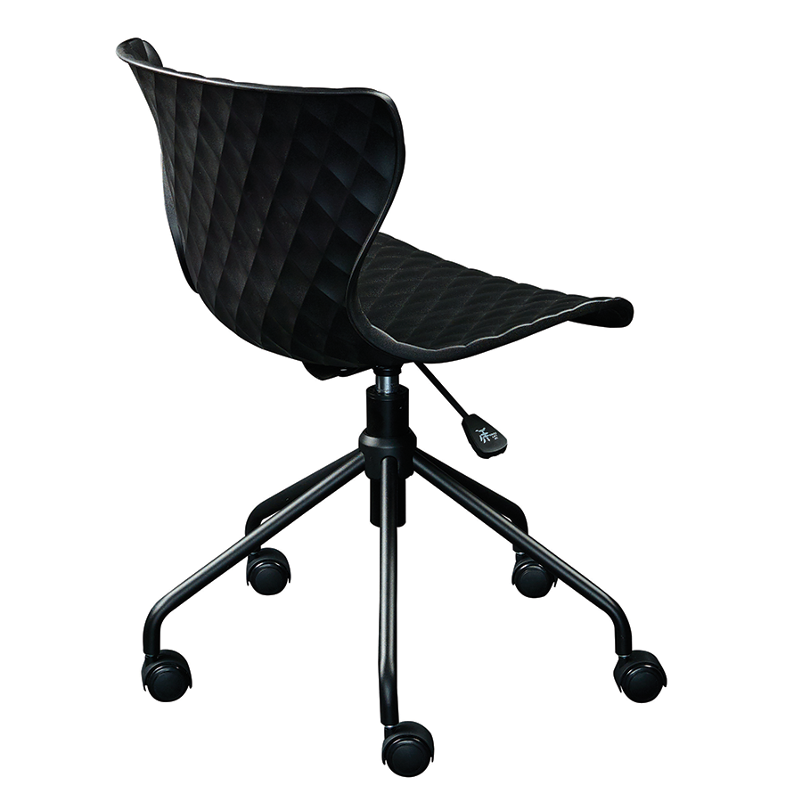 Daly Black Polypropylene Contemporary Task Chair