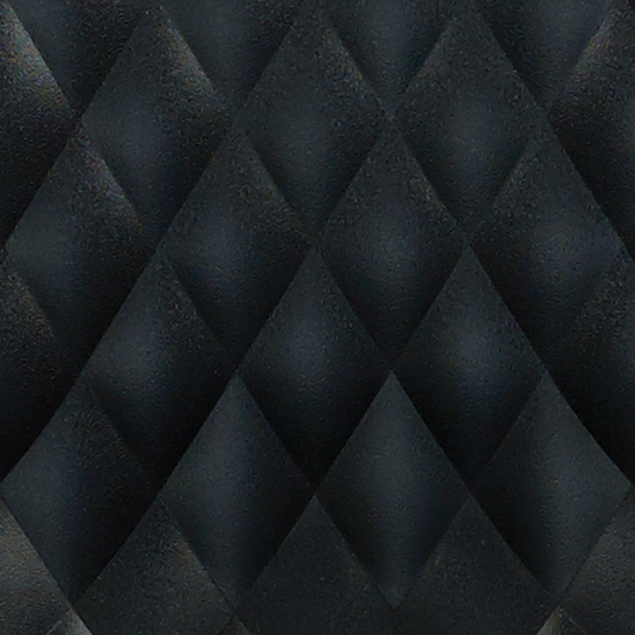 Daly Black Quilted Polypropylene Swatch