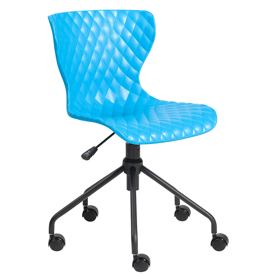 Daly Blue Modern Task Chair