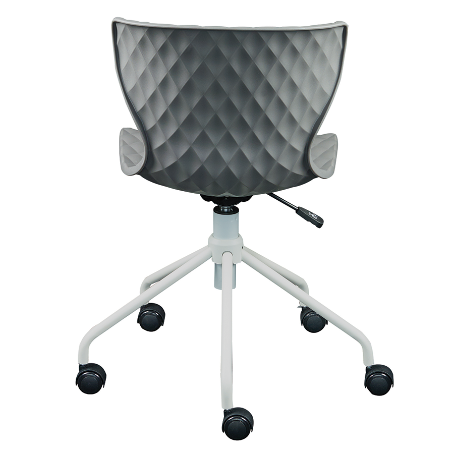 Daly Gray Polypropylene + Powder Coated Metal Modern Task Chair